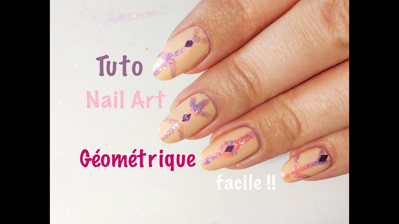 Tuto nail art g om trique tr s facile pour d butant youtube - Tuto nail art debutant ...