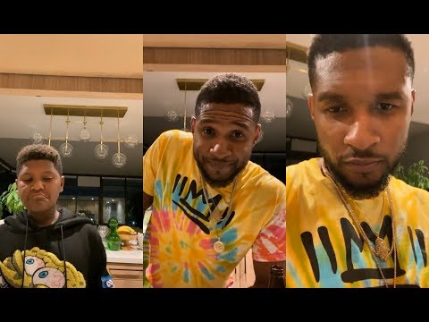 Usher And His Son On Instagram Live   October 16th, 2019