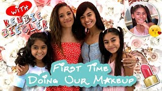 First Time Doing Our Makeup - ft. Kenzie Ziegler // GEM Sisters