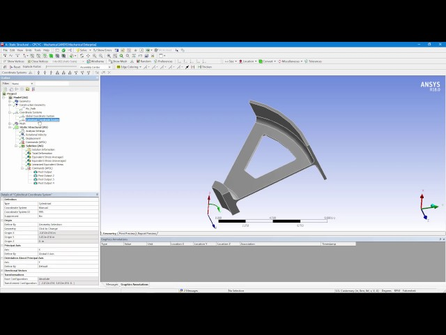 How to Include Cyclic Symmetry and Path Results in ANSYS Mechanical Workbench