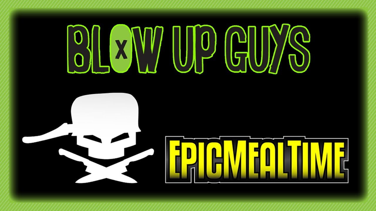 Epic Meal Time vs Blow Up Guys - Shopping Cart Ride of Death - Epic Meal Time challenges the Blow Up Guys to a salad eating contest... NEVER EAT SALAD - loser has to take the shopping cart ride of death!