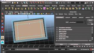 Intro to Maya 3d Modeling Part 1 - Table and Chair