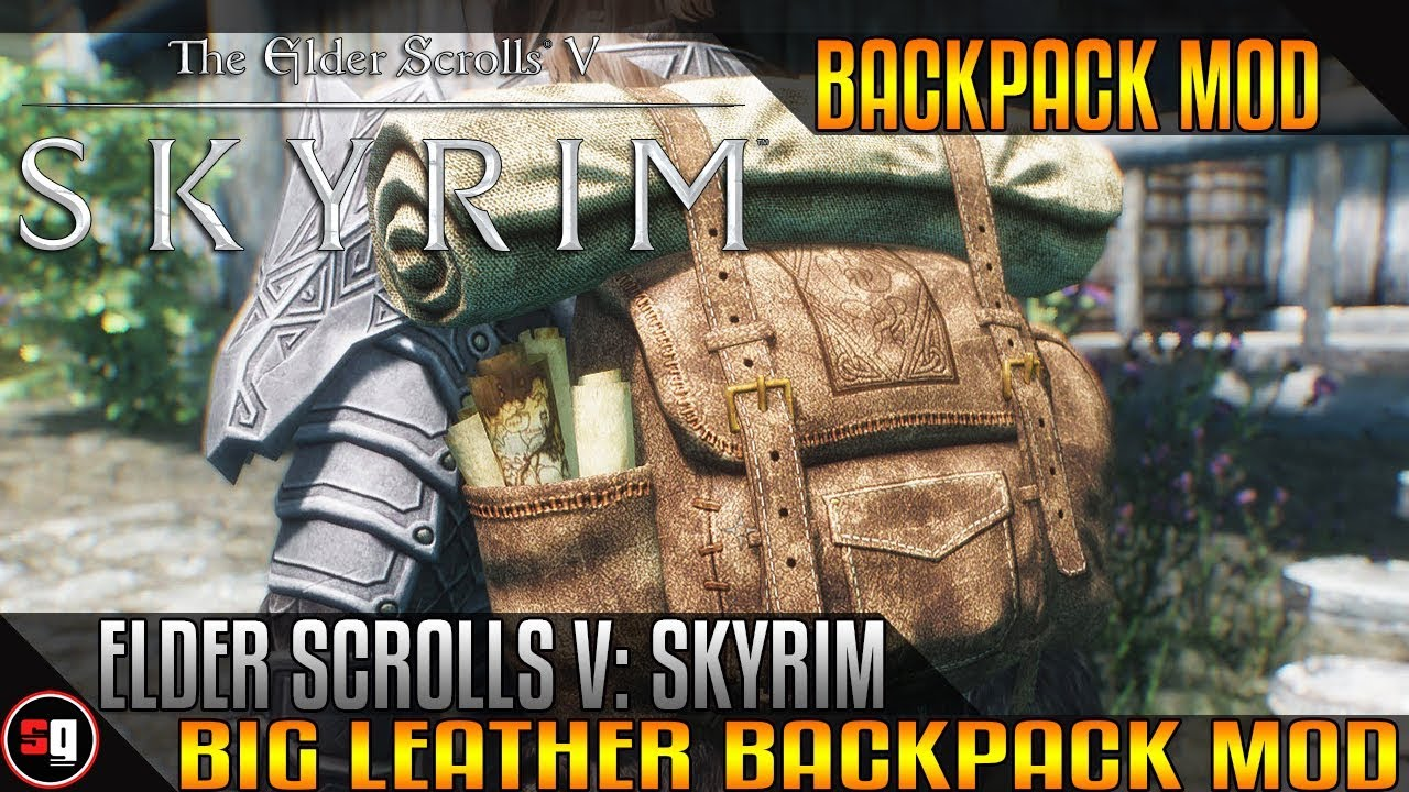 The Elder Scrolls V: Skyrim - Big Leather Backpack Mod - YouTube