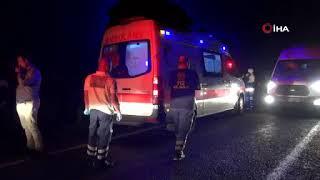 Otomobil ve hafif ticari araç kafa kafaya çarpıştı: 1 ölü, 2 yaralı