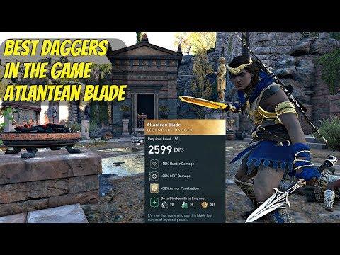 Assassin's Creed Odyssey - BEST Daggers Legendary Atlantean Blade Location