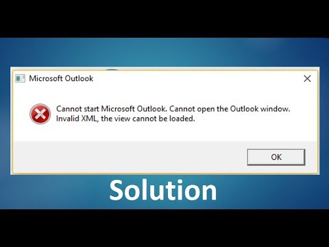 Cannot Open The Outlook Window >> Solution Cannot Start Microsoft Outlook Cannot Open The Outlook Window Invalid Xml Resolved