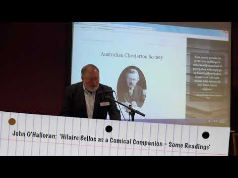 John O'Halloran:  'Hilaire Belloc as a Comical Companion – Some Readings'