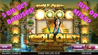 NEW!! 5 HIGH STAKES Bonuses on Temple Quest! ( Big Time Gaming )