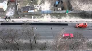 Гомель - Укладання асфальту (ремонт дороги)