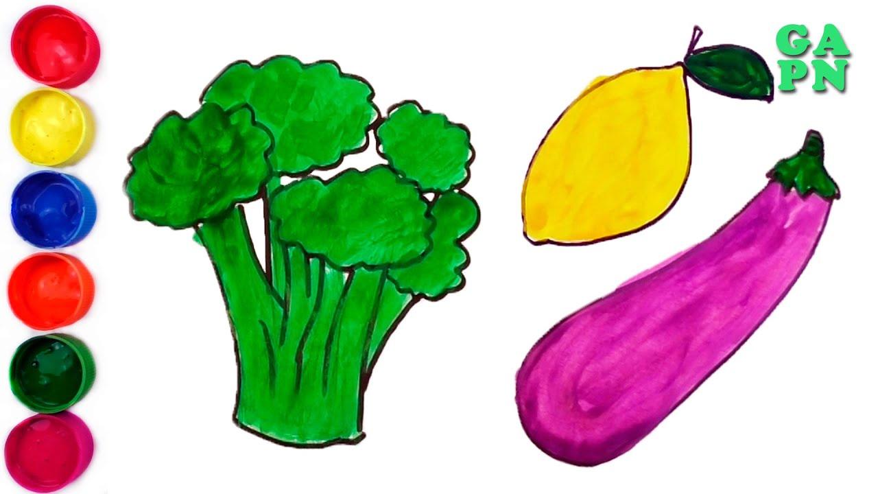 Aprende Los Colores Para Ninos Como Dibujar Verduras Aprender