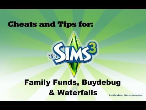 Sims 3   Family Funds, Buydebug & Waterfalls