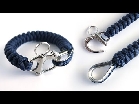 How to Make a Thimble and Shackle Snake Knot Paracord Bracelet Tutorial