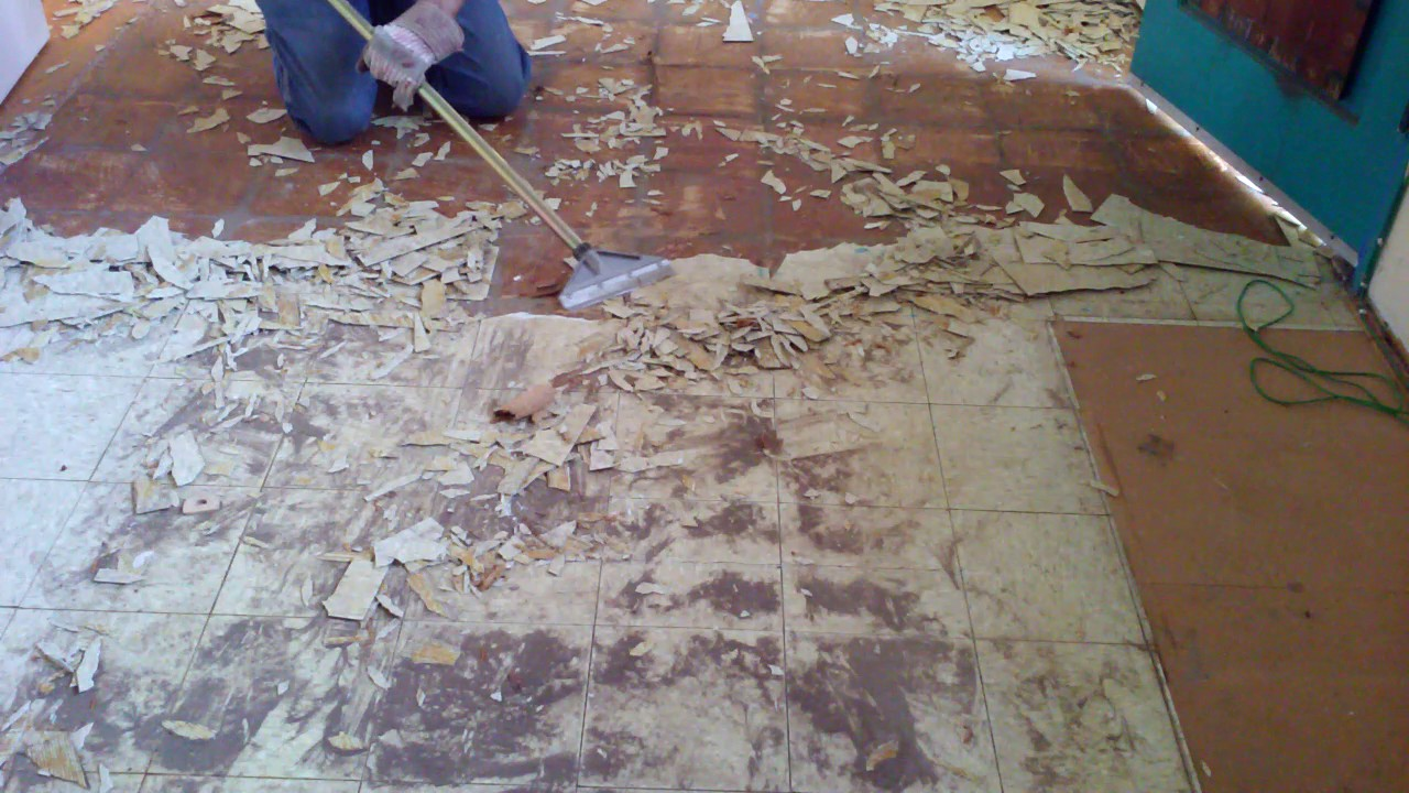 Easiest Way To Remove Old Linoleum Floor Tile In A Kitchen