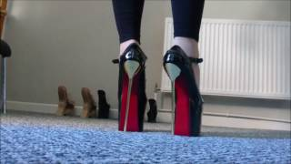 Walking in extreme high heels