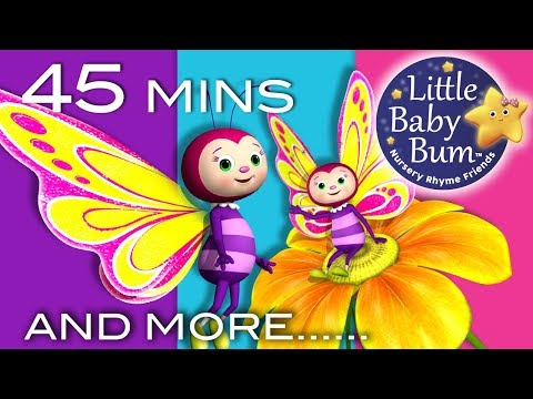 Butterfly Song | Plus Lots More Nursery Rhymes | 45 Minutes Compilation from LittleBabyBum!