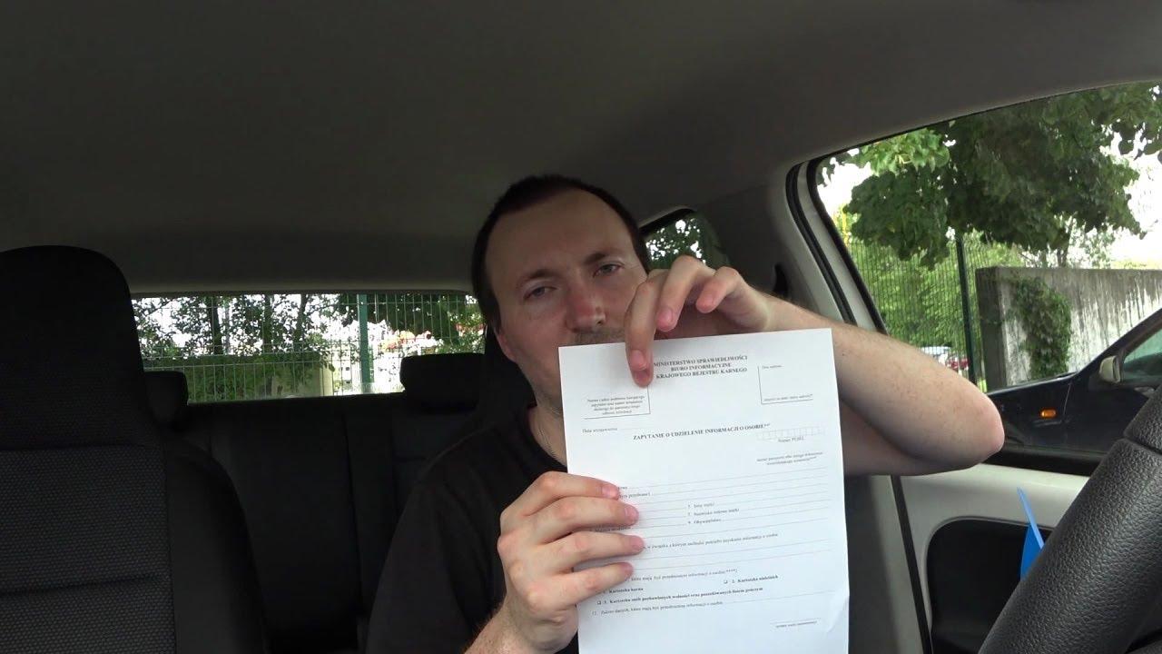 Справка о несудимости в Польше. Как получить для работы такси/курьера?