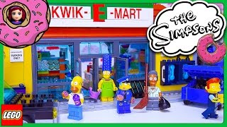 Lego The Simpsons Kwik-E-Mart Build Review Silly Play Part 1 - Kids Toys