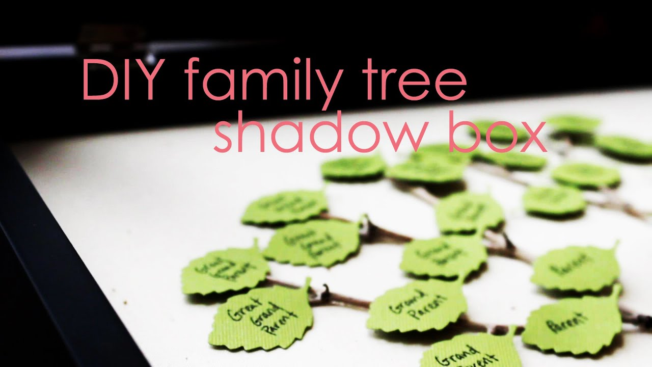 easy diy family tree shadow box youtube - Family Tree Design Ideas