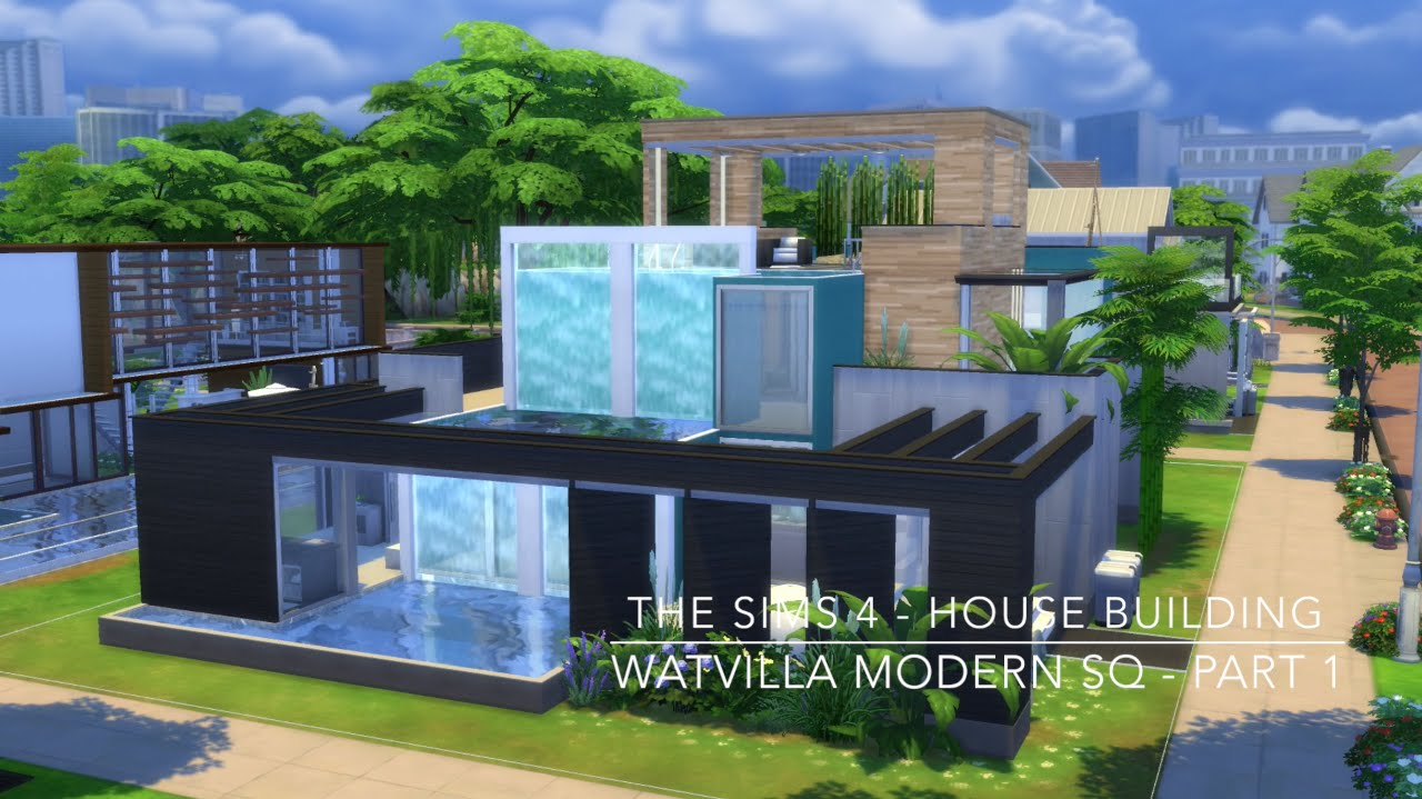 The sims 4 house building watvilla modern sq part 1 for Modern house 6 part 10