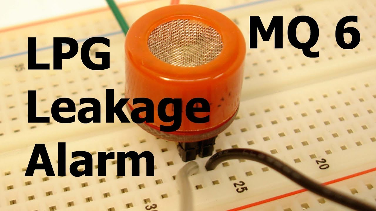 Lpg Gas Leakage Alarm Using Mq6 Sensor Youtube Linear Integrated Circuits Mini Projects