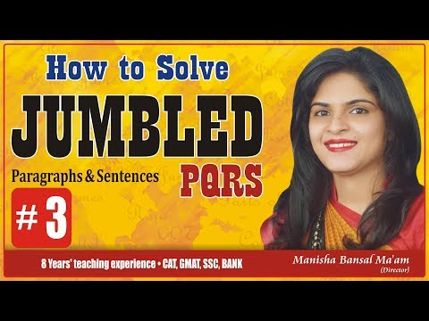 PARAJUMBLED PQRS Best Approach to solve for SSC, BANK, CDS by Manisha Bansal Ma'am #3
