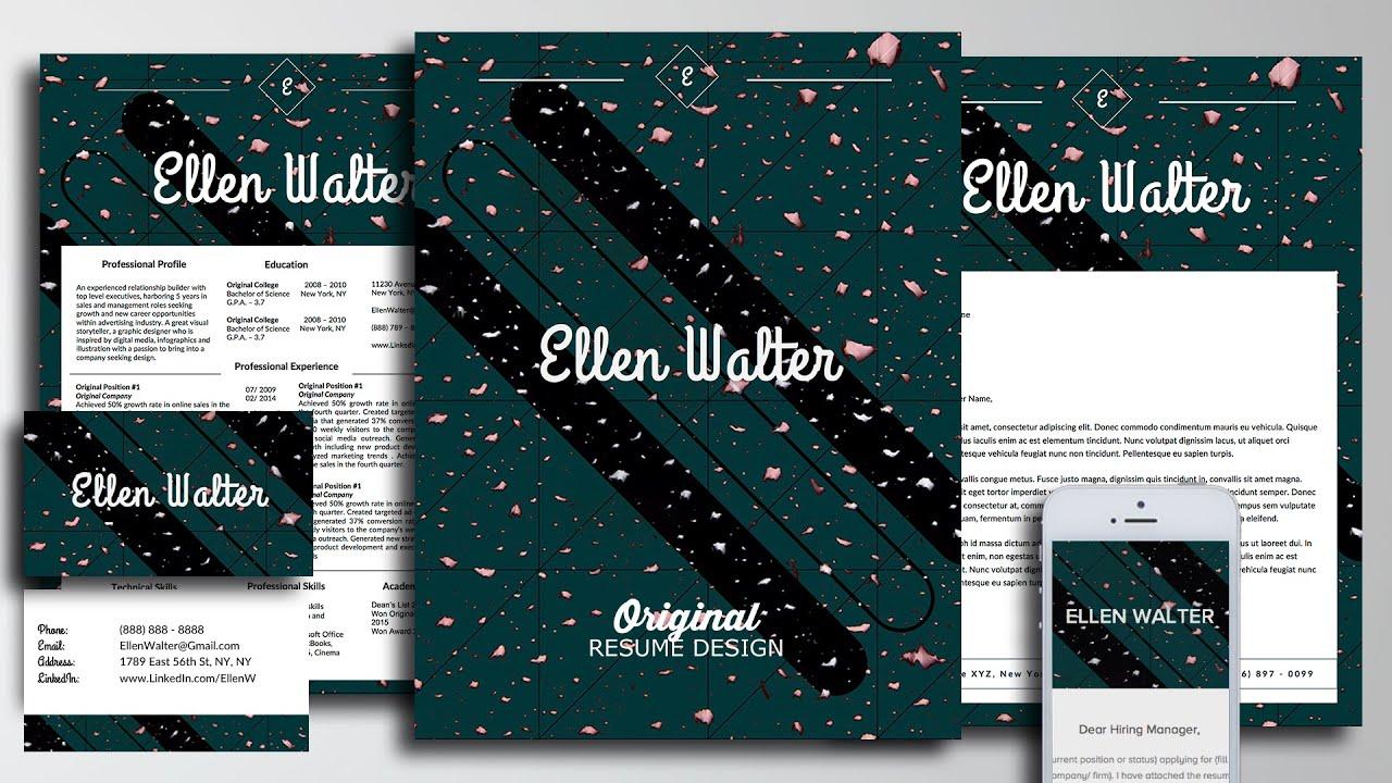 Personal Branding Resume Template The Ellen Walter Design for ...