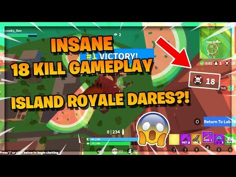 Roblox Island Royale Gameplay Videos Insane 18 Kill Gameplay Island Royale Dares Roblox Island Royale Youtube
