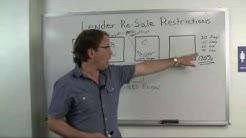 Overcoming Lender Resale Restrictions: Make Money in Real Estate Flipping Houses