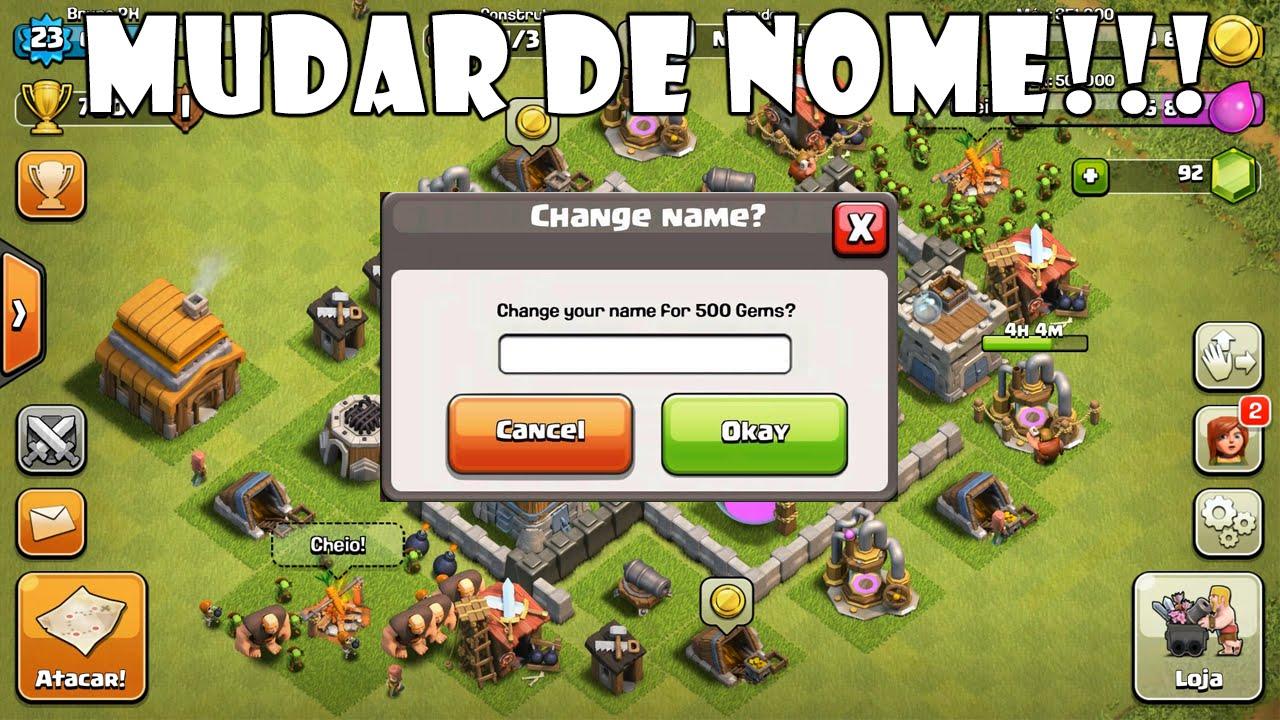 Mudar de nome! (Atualização no Clash of Clans)