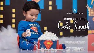 3 Art Studio I Rudraunsh Cake Smash I 2019 I Little superman theme
