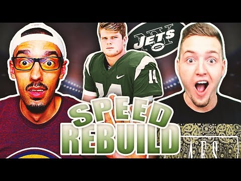 NEW YORK JETS SELECT SAM DARNOLD WITH THE #1 PICK IN THE 2018 NFL DRAFT! Madden 18 Speed Rebuild