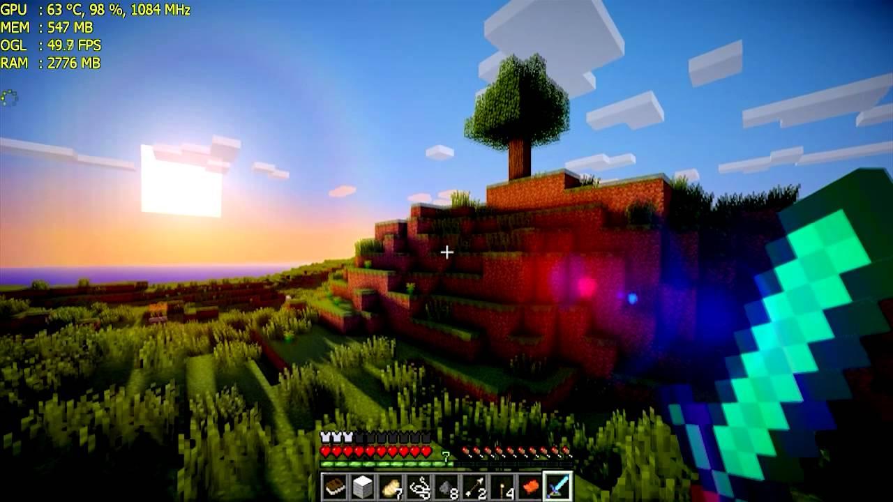 minecraft 1102 max settings mod shaders 1080p on msi