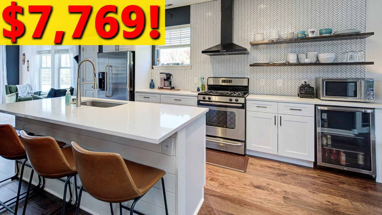 Kitchen Remodel Major Diy Kitchen Renovation On A Budget Cost Before And After Etc Youtube