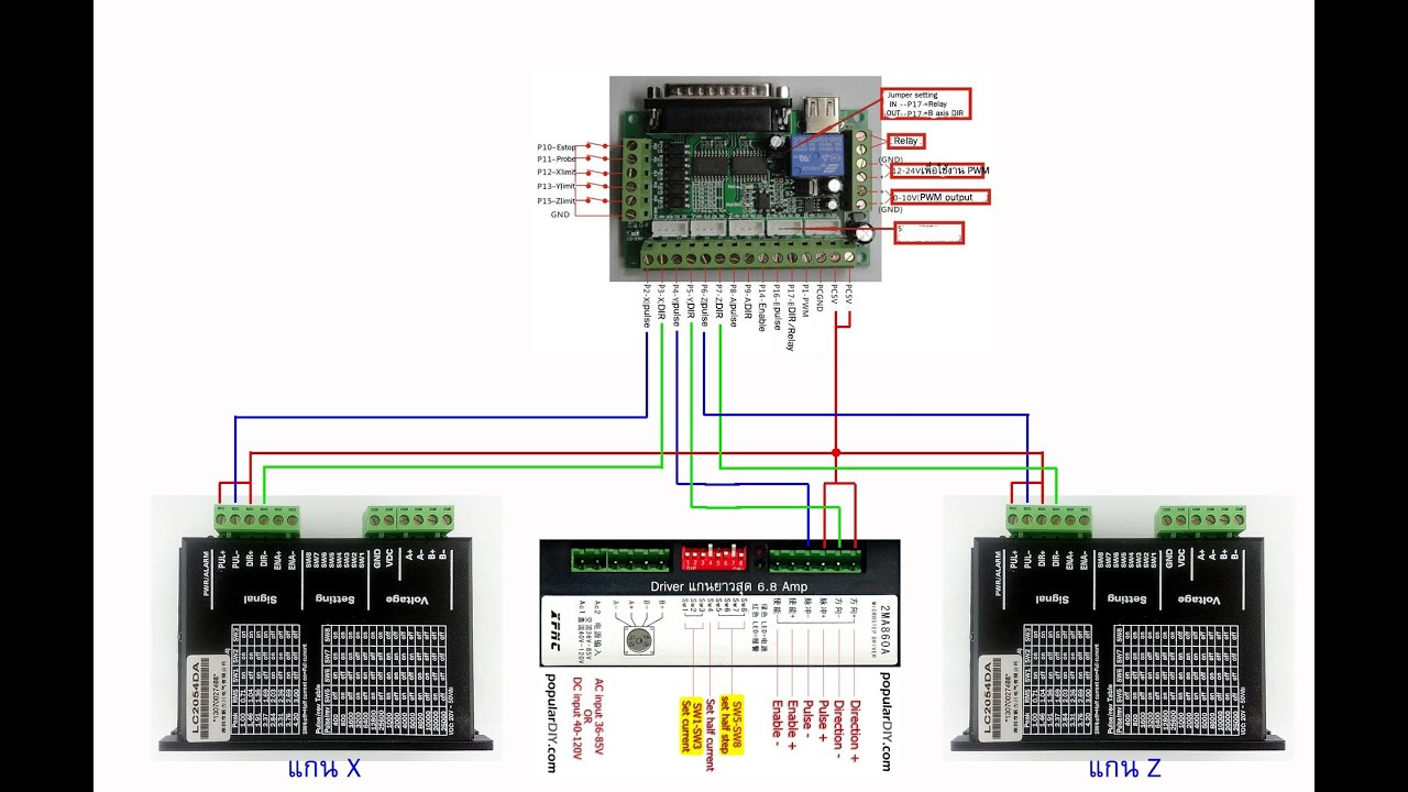 5 Axis Cnc Breakout Board Wiring Diagram 1987 Porsche 944 Stereo Populardiy Interface Step Motor
