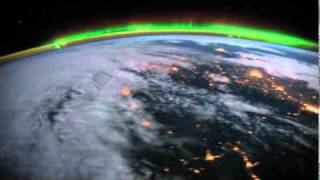Over Earth: Aurora Night Pass Above America
