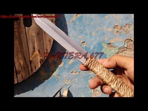 ¿Cómo hacer un cuchillo táctico de una varilla? daga para lanzar