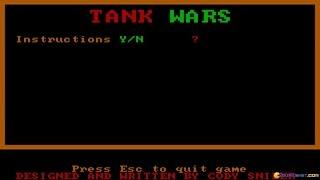 Tank Wars gameplay (PC Game, 1986)