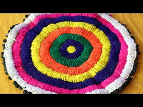 DIY Handmade Doormat   How to make doormat at home   Doormat from waste materials -DIY home project