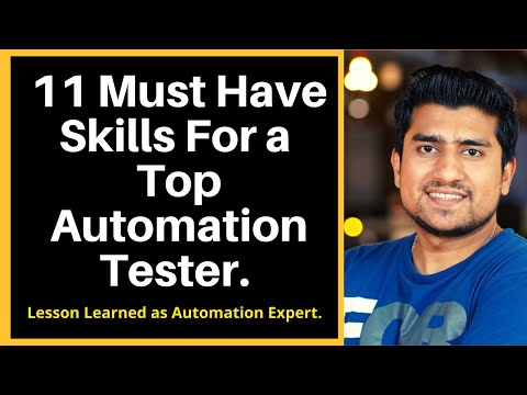 11 Must Have Skills For a Top Automation Tester | Automation Testing Tutorial