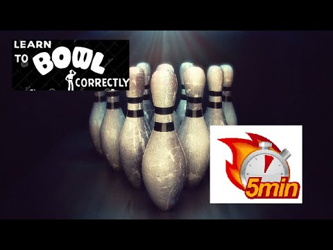Learn How to Bowl in 5 Minutes (Bowling for Beginners Dummies Fast Now Easy Strike Cómo Cuenco)