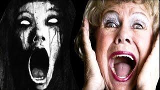- Страшная злая девочка пугает бабушку