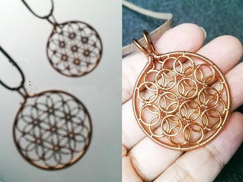 "how to make "" Flower of life "" pendant - Working with Wire 258"