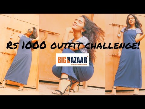 Rs.1000 Shopping Challenge in Big Bazar  thebrowndaughter 