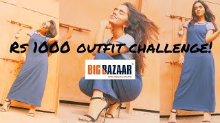 Rs.1000 Shopping Challenge in Big Bazar |thebrowndaughter|