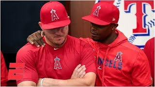 Mike Trout, Angels talk about Tyler Skaggs after win vs Rangers | MLB