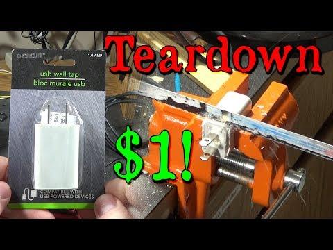 Dollar Store E-Circuit USB Wall Tap Phone Charger Teardown