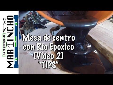 """Mesa de Centro con Rio Epoxico """"TIPS"""" (Video 2)"""