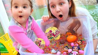 LOL Surprise Dolls Toy Challenge Game with ORBEEZ - Ruby Rube and Bonnie