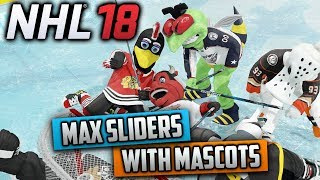 Can I Win a Game With Mascots Using Max Sliders? (NHL 18 Challenge)