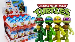 Kinder Joy TMNT Teenage Mutant Ninja Turtles Unboxing Surprise Eggs Cowabunga~!